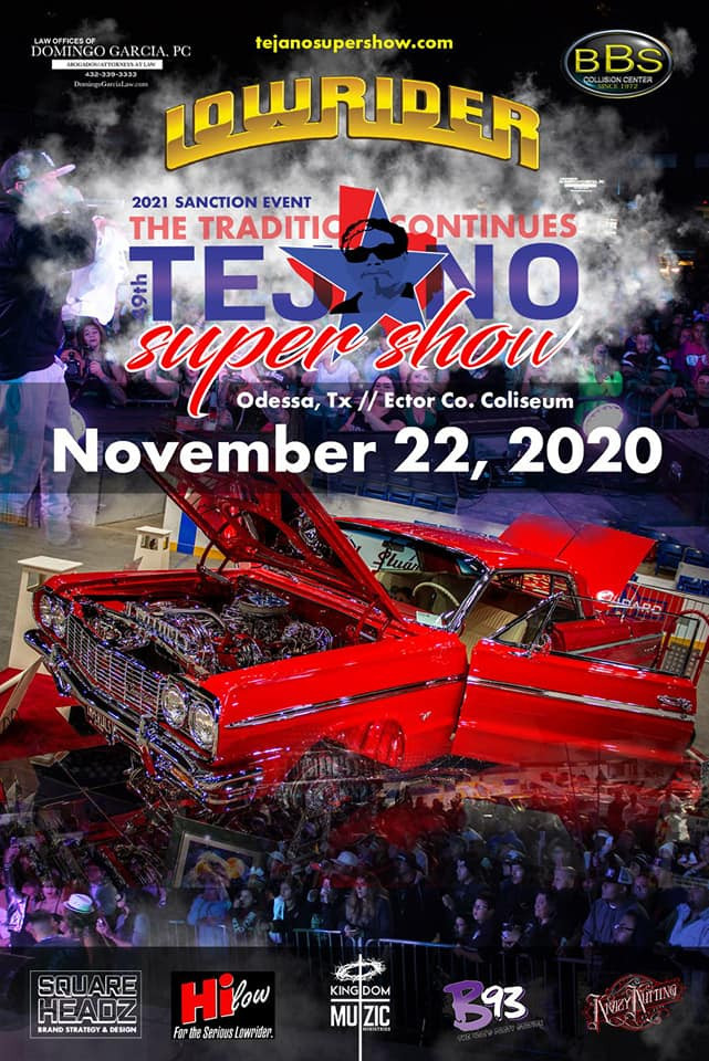 Next month! Tejano Super Show November 22, 2020! Odessa, TX