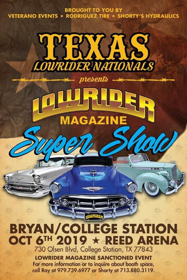 2019 Texas Lowrider Nationals - A Lowrider Magazine Sanctioned Event. Get more info at https://motorsportshowcase.com/index.php/msblvd/events/viewevent/83-texas-lowrider-nationals