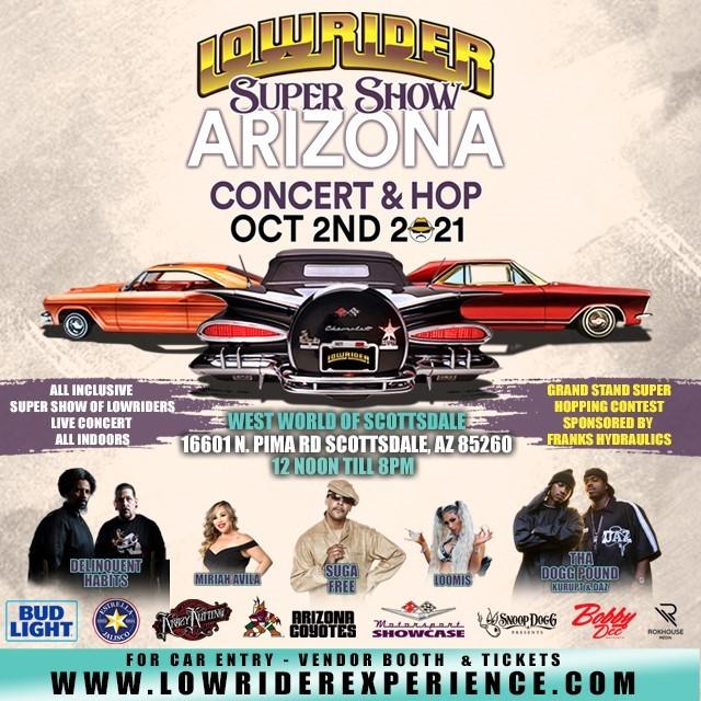 The 2021 Lowrider Super Show comes to Scottsdale, AZ. Get more info at https://motorsportshowcase.com/index.php/msblvd/events-calendar/viewevent/109-2021-scottsdale-super-show