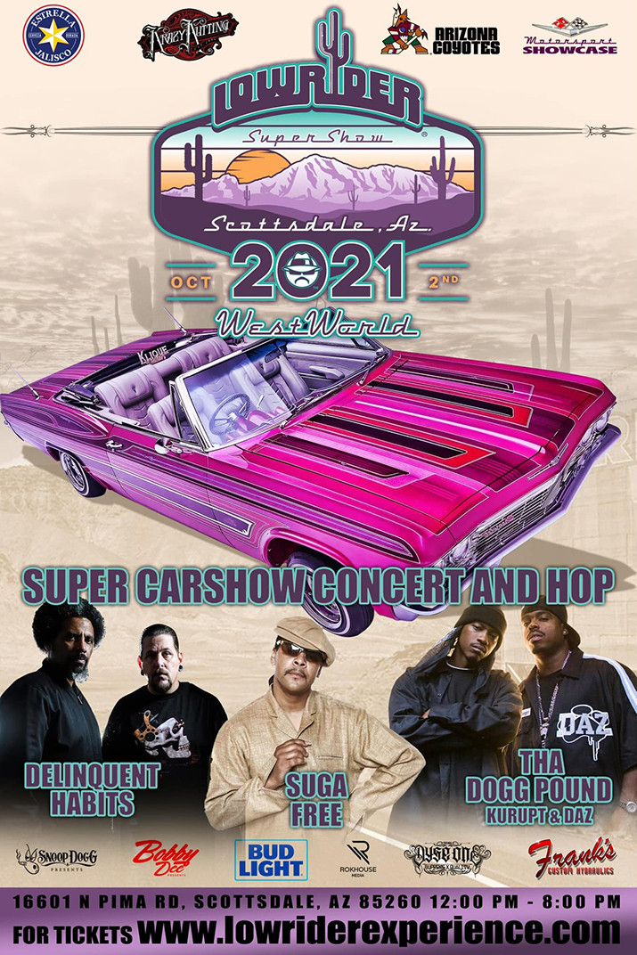 Saturday, October 2nd the Official Arizona Lowrider Supershow rolls into Westworld of Scottsdale!