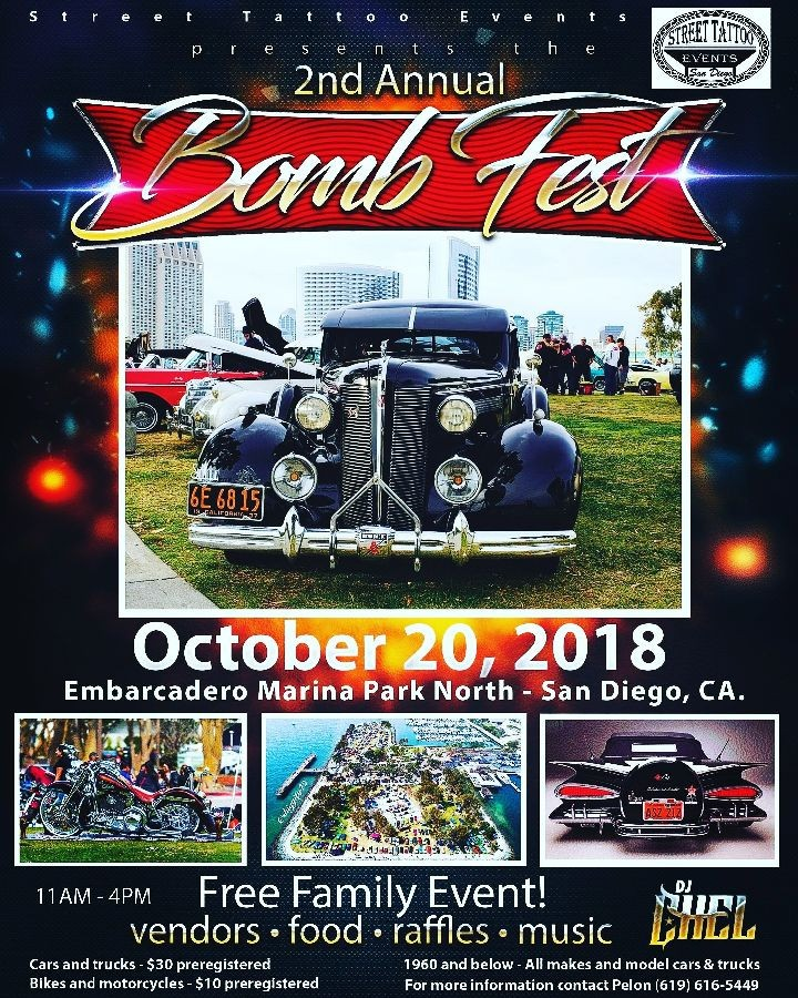 2nd Annual Bomb Fest in San Diego, CA https://motorsportshowcase.com/index.php/msblvd/events-calendar/viewevent/66-bomb-fest