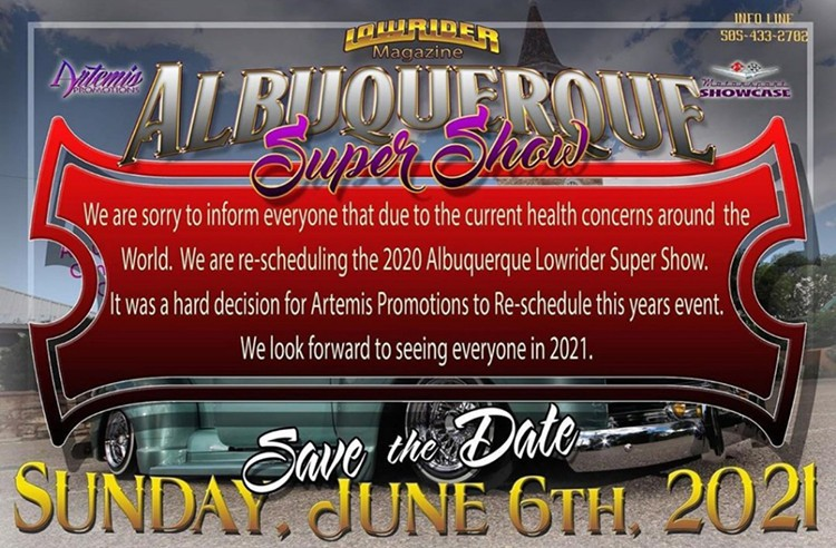 Albuquerque Super Show - New Date June 6, 2021