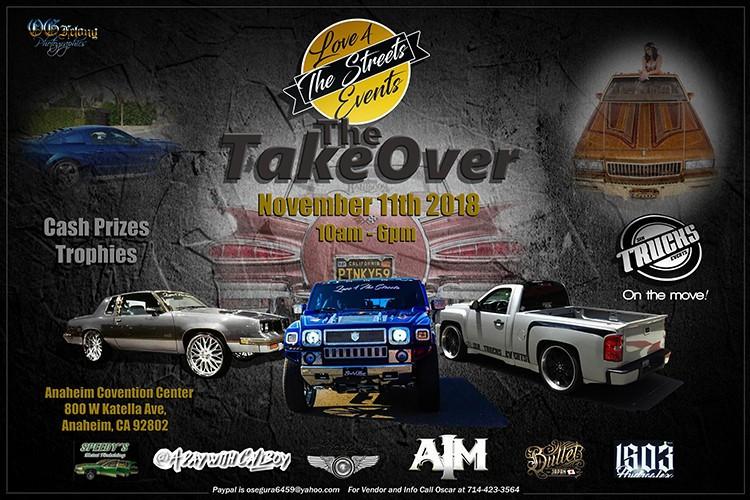 TakeOver Car Show November 11 at the Anaheim Convention Center