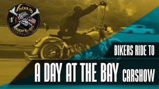 "Xicano Style BIKERS Ride to ""A Day At The Bay"" Car show in San Diego"